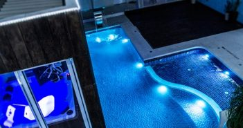 iluminação da sua piscina