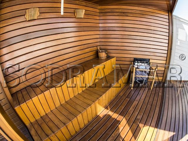 incluir uma sauna no ambiente da piscina