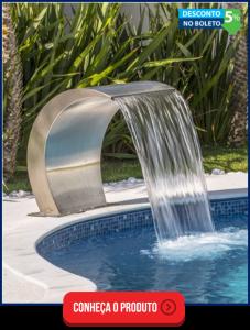 cascatas para piscina