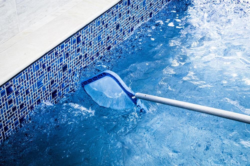 limpar a piscina