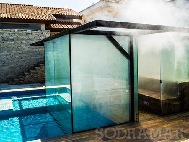 Área de lazer com sauna