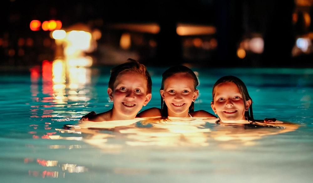 piscina com trocador de calor