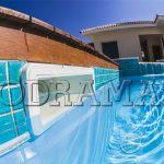 Drenos de fundo e dispositivos: Produtos essenciais para a piscina.